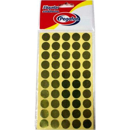 Etiquetas Circular Dorado x 500 Unidades