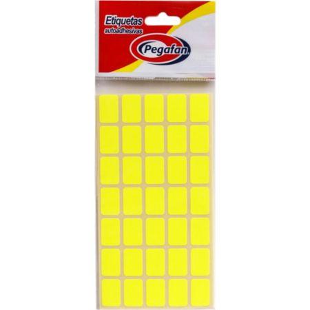 Etiquetas 13mm x 19mm Fluorescente Amarillo x 500 Unidades