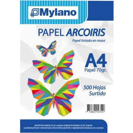 Papel Arcoiris Surtido A4 70 g x 500 Hojas