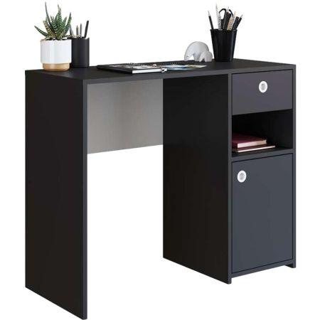 Mueble de Escritorio de Melamine Negro Delphine