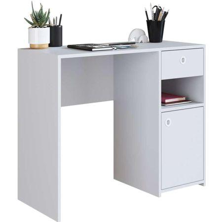 Mueble de Escritorio de Melamine Blanco Eudor