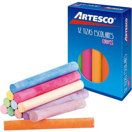 Tiza Antialérgica de Colores Caja x 12 Unidades