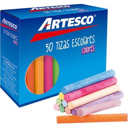 Tiza Antialérgica de Colores Caja x 50 Unidades