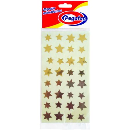 Etiquetas Estrella Dorado x 96 Unidades