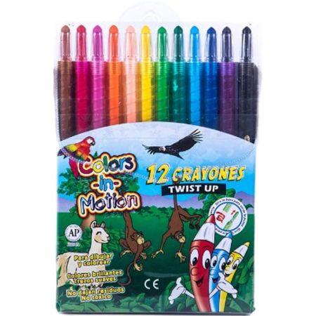 Crayones Retráctil Estuche x 16 Unidades