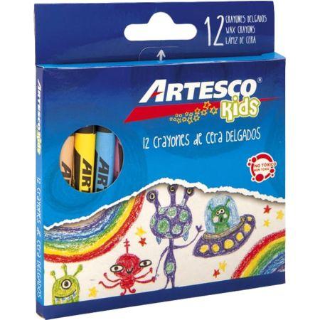 Crayones Delgado Caja x 12 Colores