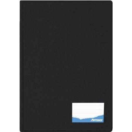 Folder Doble Tapa con Gusanillo Oficio Negro