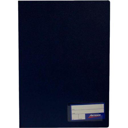 Folder Doble Tapa con Gusanillo Oficio Azul Oscuro