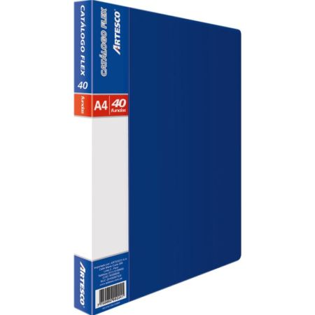 Catálogo A4 para 40 Hojas Azul x 1 Unidad