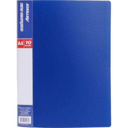 Catálogo A4 para 10 Hojas Azul x 1 Unidad