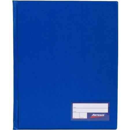 Folder Doble Tapa con Gusanillo A4 Azul Francia