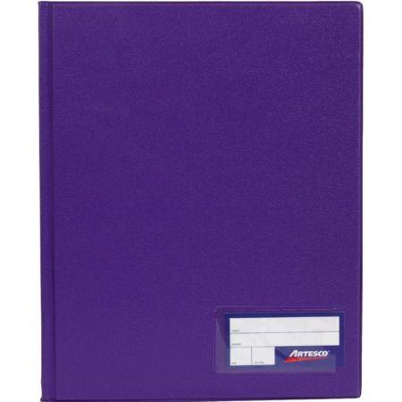 Folder Doble Tapa con Gusanillo A4 Morado