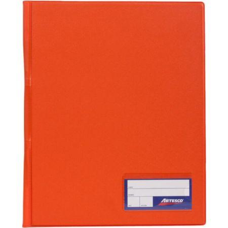 Folder Doble Tapa con Gusanillo A4 Naranja