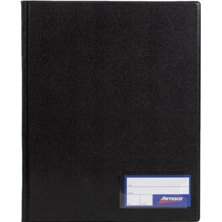 Folder Doble Tapa con Gusanillo A4 Negro
