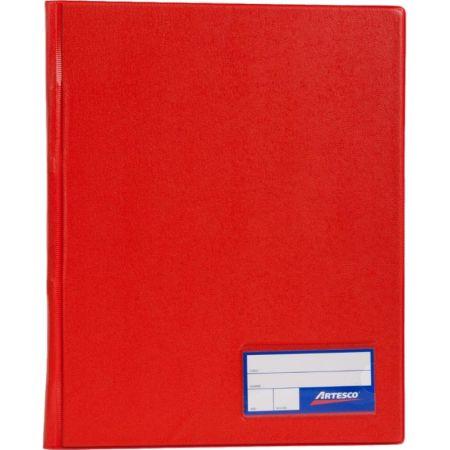 Folder Doble Tapa con Gusanillo A4 Rojo