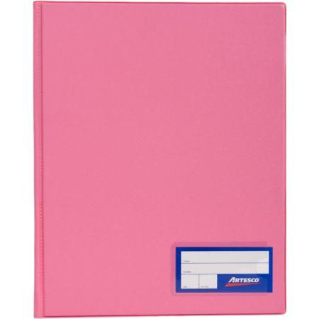 Folder Doble Tapa con Gusanillo A4 Rosado