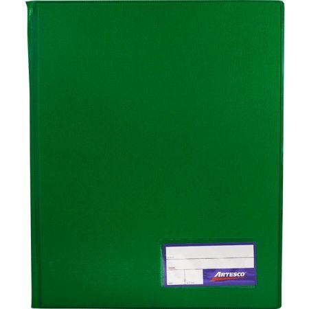 Folder Doble Tapa con Gusanillo A4 Verde Hoja
