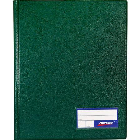 Folder Doble Tapa con Gusanillo A4 Verde Oscuro