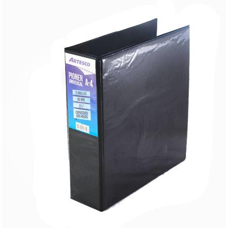 Pioner Universal A4 65mm 2 Anillos Negro