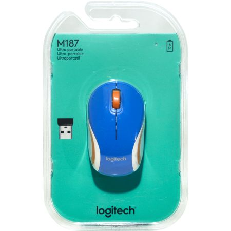 Mouse Mini Inalámbrico M187 Azul
