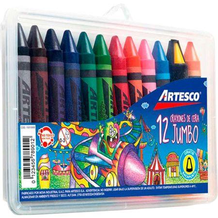 Crayones Jumbo Estuche Plástico x 12 Colores