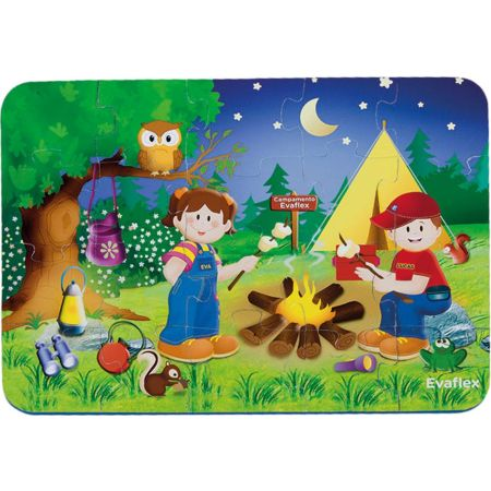 Rompecabeza de Goma Eva 20 Piezas Camping