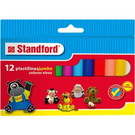 Plastilina Jumbo Caja x 12 Unidades Standford