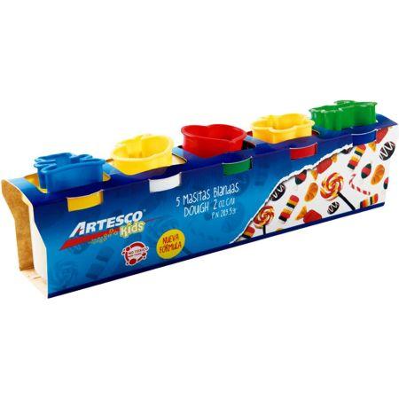 Masa Blanda Dough 2 oz x 5 unidades + Moldes