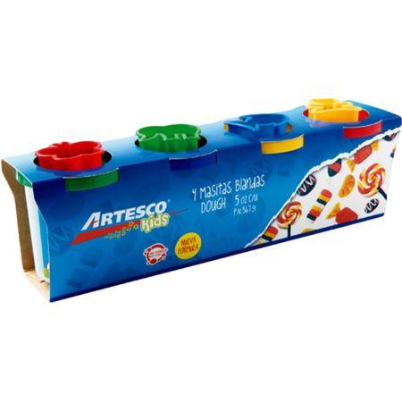 Masa Blanda Dough 5 oz x 4 unidades + Moldes