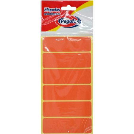 Etiquetas 23.5 x 76 mm Naranja