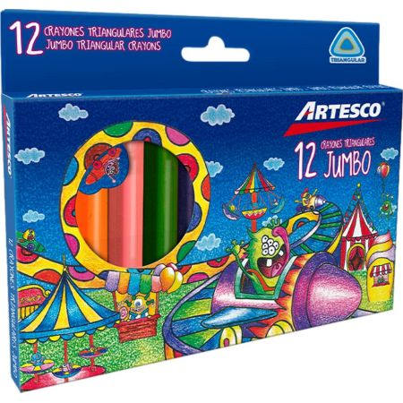 Crayones Triangulares Jumbo x 12 Unidades