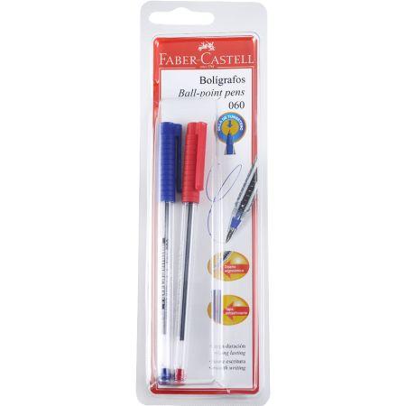 Lapicero 060 Fine Blister x 2 Unidades Azul / Rojo