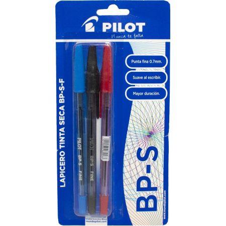 Lapicero BP-S Blister x 3 Unidades Azul / Rojo / Negro
