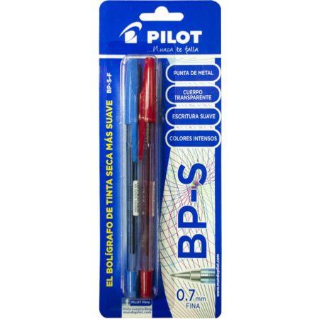Lapicero BP-S Blister x 2 Unidades Azul / Rojo