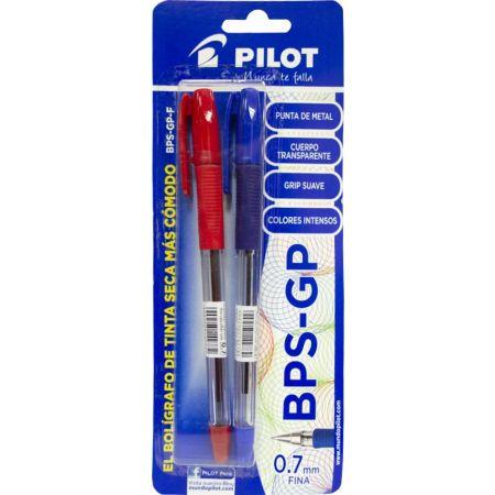 Lapicero BPS-GP Blister x 2 Unidades Azul / Rojo