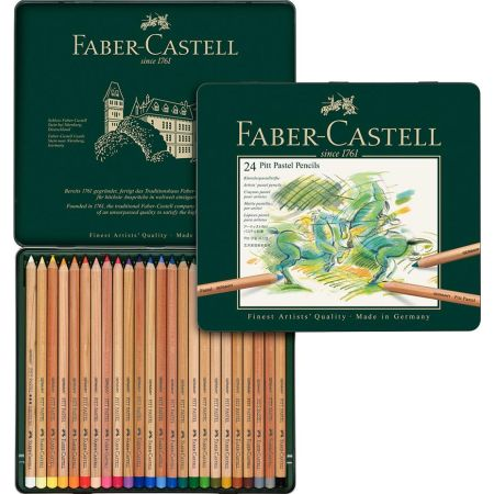 Colores Pitt Pastel Caja x 24 Unidades