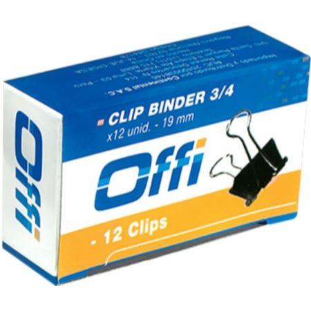 Clips Binder 19mm Caja x 12 Unidades