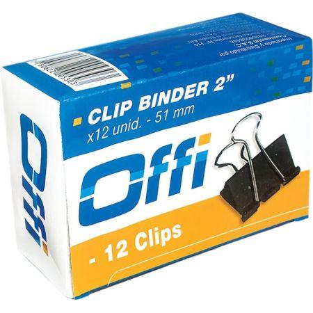 Clips Binder 51 mm Caja x 12 Unidades Offi