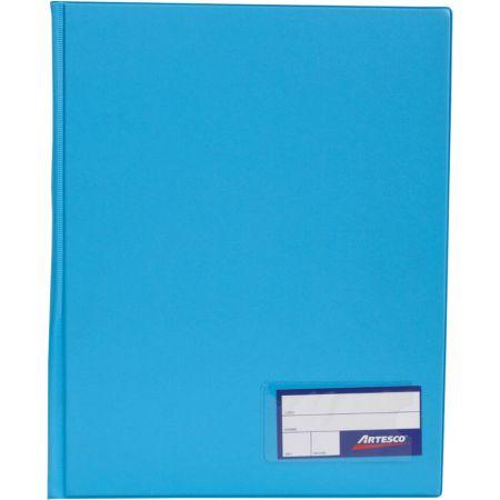 Folder Doble Tapa con Gusanillo A4 Celeste