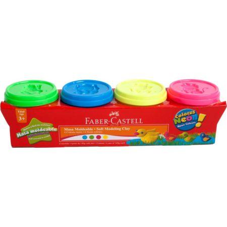 Masa Moldeable Neón Caja x4 Colores