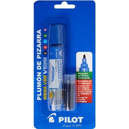 Plumón para Pizarra V- Board Master WBMA Azul Blister x 1 Unidad + Cartucho