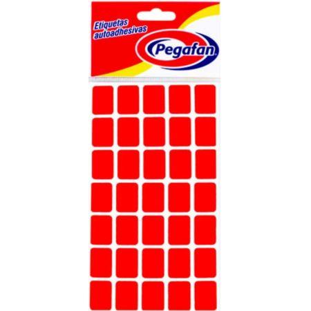 Etiquetas 13mm x 19mm Fluorescente Rojo x 500 Unidades