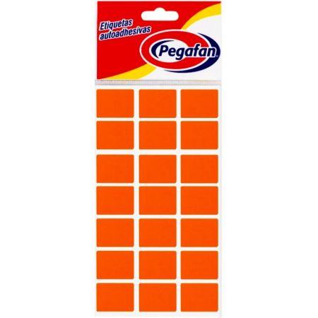 Etiquetas 25 x 19 mm Fluorescente Naranja