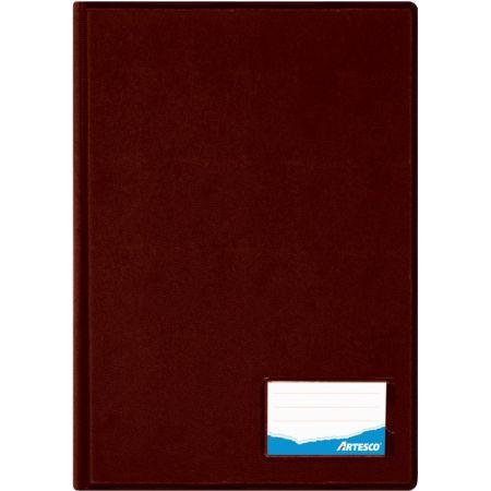Folder Doble Tapa con Gusanillo Oficio Marrón