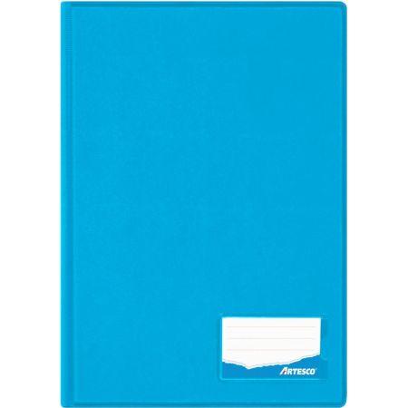 Folder Doble Tapa con Gusanillo Oficio Celeste