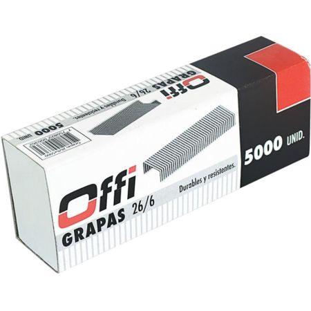 Grapas 26/6 Caja x 5000 Unidades Offi