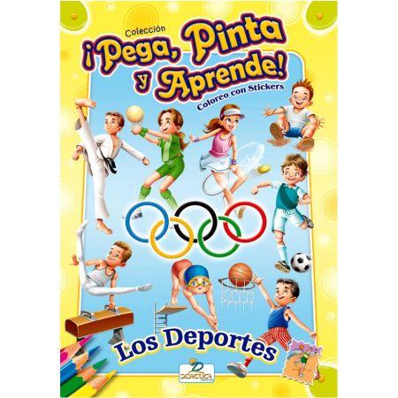Libro para Colorear y Stickers Los Deportes