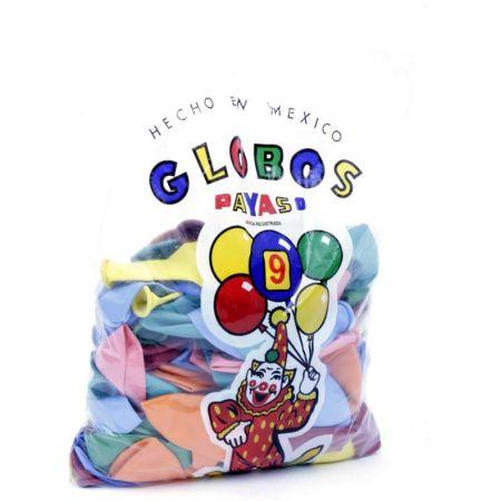 Globo N°9 Bolsa x 100 Unidades Colores Surtidos