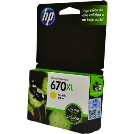 Tinta para Impresora en Cartucho 670 XL Yellow