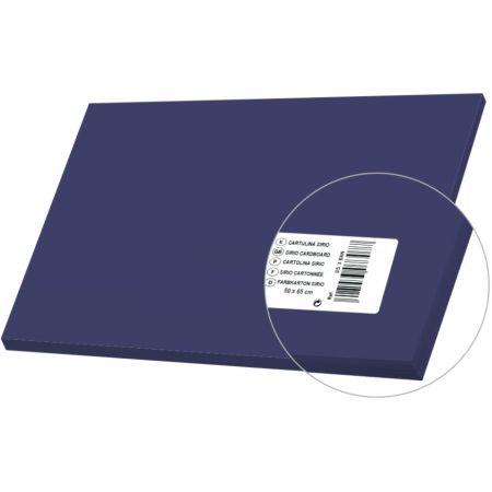 Cartulina Sirio Azul Marino 50cm x 65cm 170gm x 1 Pliego